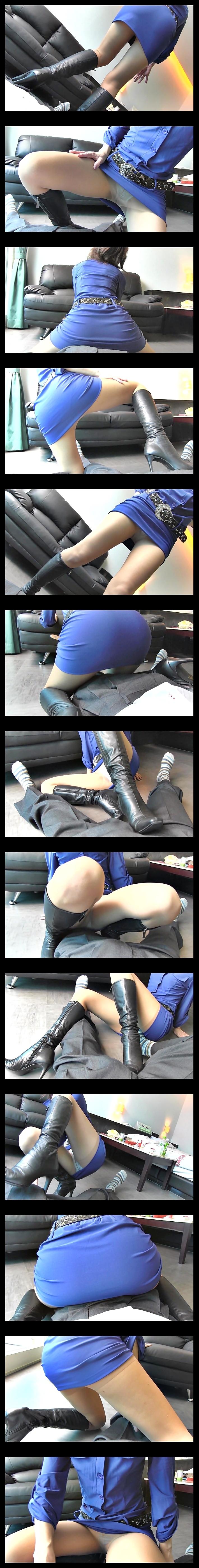 黒ブーツ13