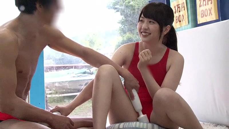 【素人】水着姿の素人女子大生の、アクメプレイが、MM号にて…!!