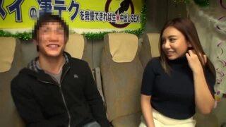 巨乳の美女、松本メイの手コキ凄テク中出し無料動画!【パイズリ動画】
