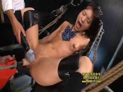 【JK】パイパンのJK性奴隷の、アクメバイブ奴隷プレイエロ動画!!