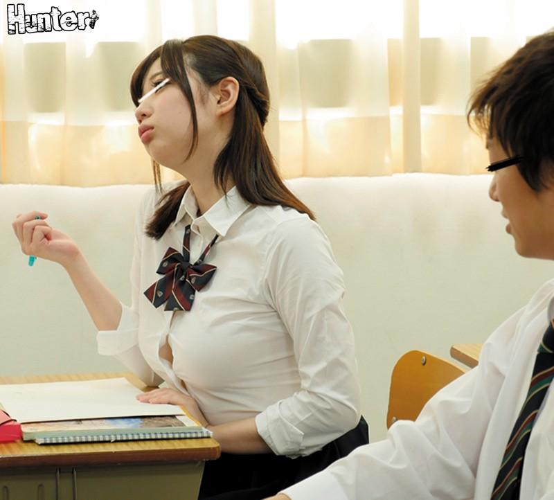 【女子校生】美乳でノーパンで制服姿の女子校生JKの、羞恥ハーレムプレイがエロい。