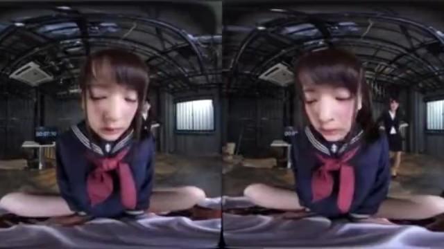 【VR】制服姿の女子校生美少女、あべみかこのsex拘束がエロい。