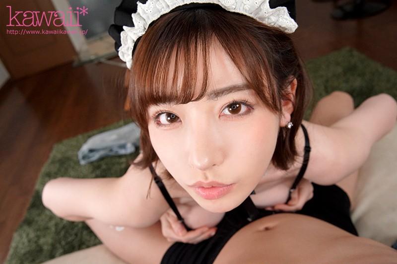【VR】スレンダー美人なメイド、深田えいみの主観無料H動画。【深田えいみ動画】
