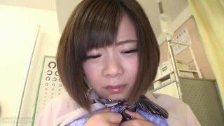 【乳首】制服姿のJK女子校生の、痴漢健康診断無料エロ動画。【JK、女子校生動画】