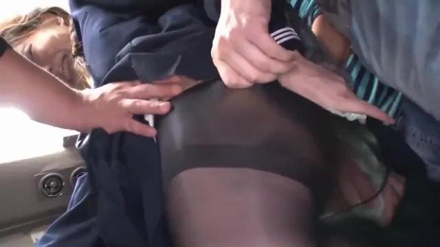 美脚でパンスト姿の女子校生JK、涼川絢音の痴漢無料動画!【涼川絢音動画】
