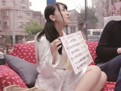 【マジックミラー】花見でほろ酔い気分の清楚美少女JDが男友達とのローション素股にアソコを濡らしエロエロ友情崩壊セックス!
