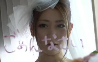 【◆無修正◆前田かおり高画質】結婚当日、ウェディング姿のキレイなお姉さんが逃げ出してあの男のところに向かう