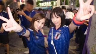 【ナンパTV】はるら22歳アパレルパタンナーみれい22歳アパレル商品管理ワールドカップコロンビア戦の勝利で盛り上がる渋谷でその熱狂にかこつけてモデル級キレイなお姉さんサポーター2人をゲット