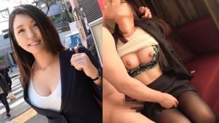 【ナンパTV】 美帆 26歳 保険の営業 渋谷駅西口で黒スーツに黒ストッキングのGカップ美巨乳OL