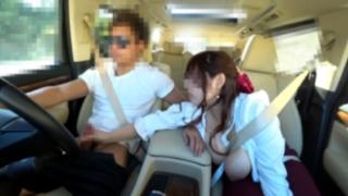 【無】運転中の男のスペルマを搾り取っちゃうドスケベ超乳女に中田氏。