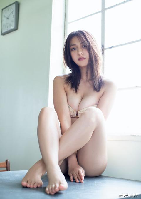 佐藤あいり(22)のスレンダー巨乳の水着グラビア画像第三弾:にゅーえろ 様