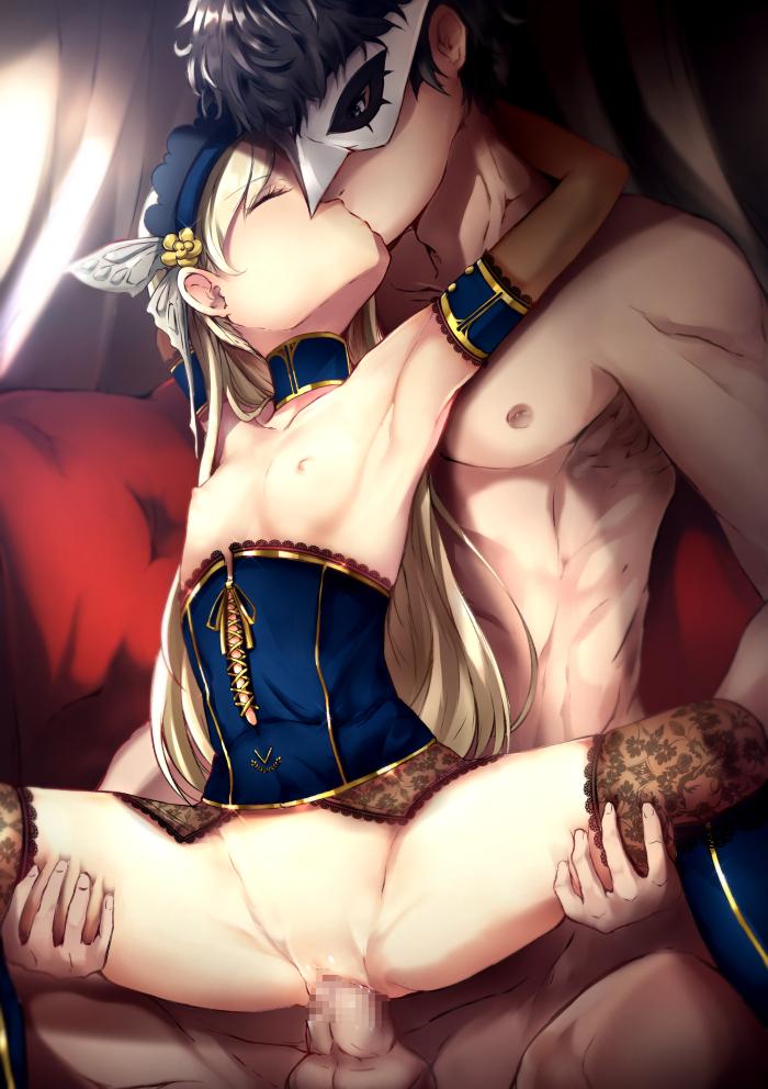 【二次元】ラヴェンツァの座位セックスエロ画像【ペルソナ5】