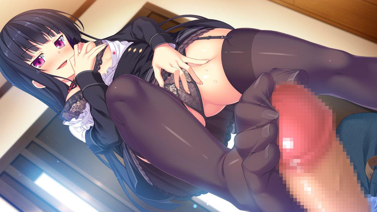 【二次元】七瀬ざくろの足コキオナニーエロ画像【妹ぱらだいす!】