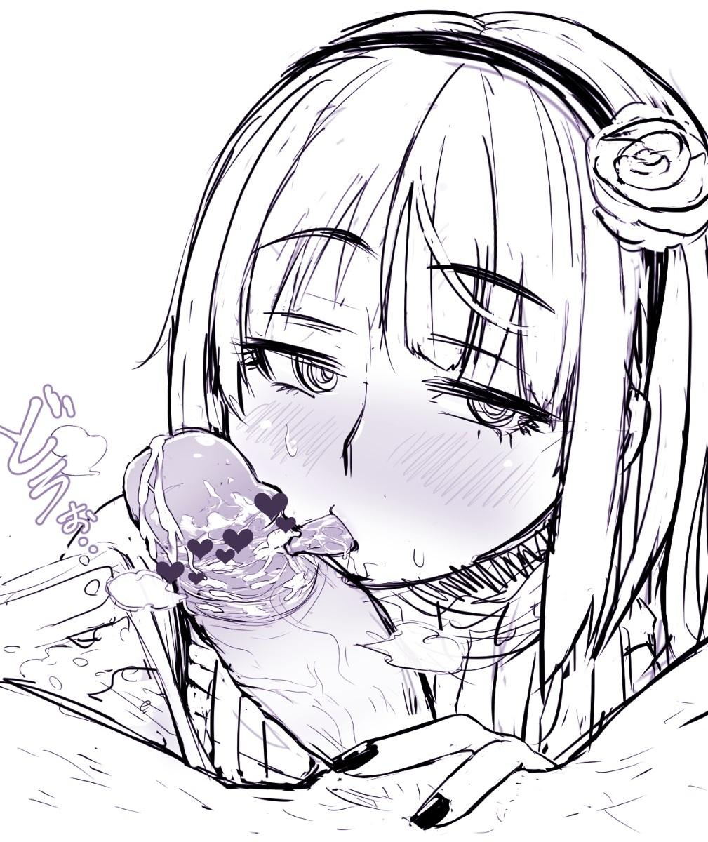 【二次元】枝垂ほたるのチンカスフェラ射精エロ画像3【だがしかし】