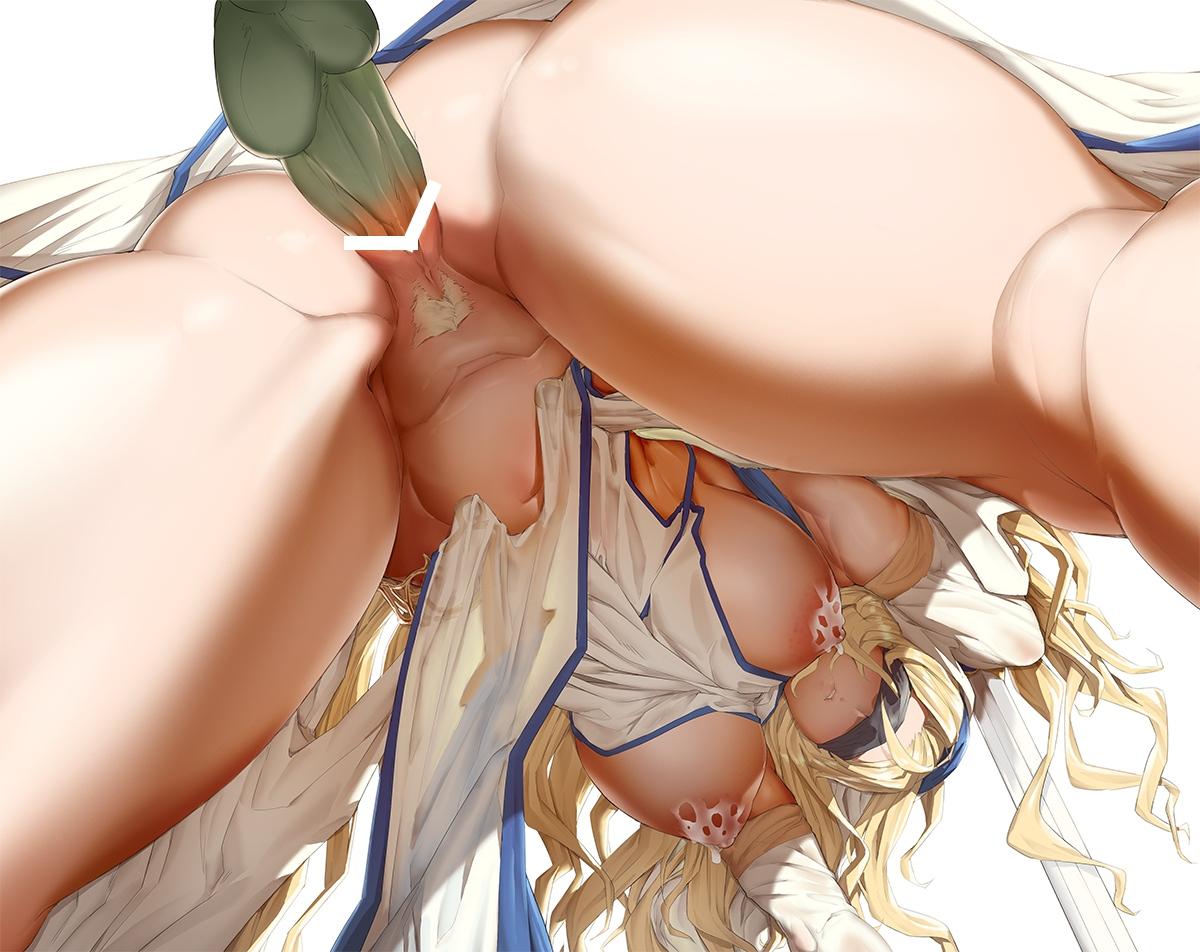【二次元】剣の乙女のローアングル後背位セックス二次エロ画像3【ゴブリンスレイヤー】