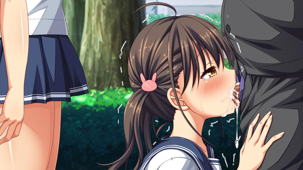 【同人CG】黒髪ツインテ美少女のフェラ口内射精二次エロ画像【週に一度の全校催○~学園の女子は校長先生のチ○ポ奴隷~】