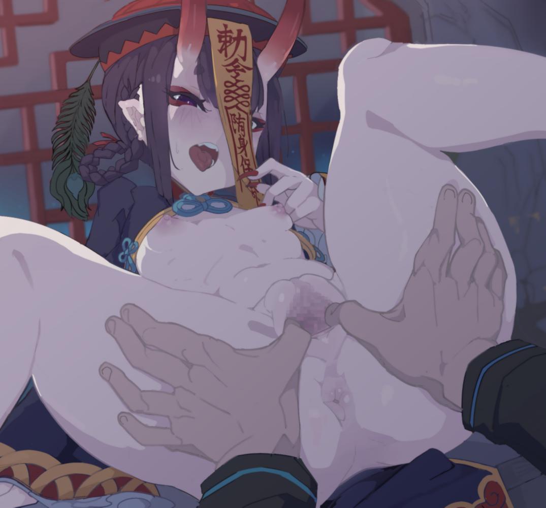 【FGO】キョンシー酒呑童子のくぱぁ中出し溢れ精液アナルフィスト二次エロ画像1【Fate/GrandOrder】