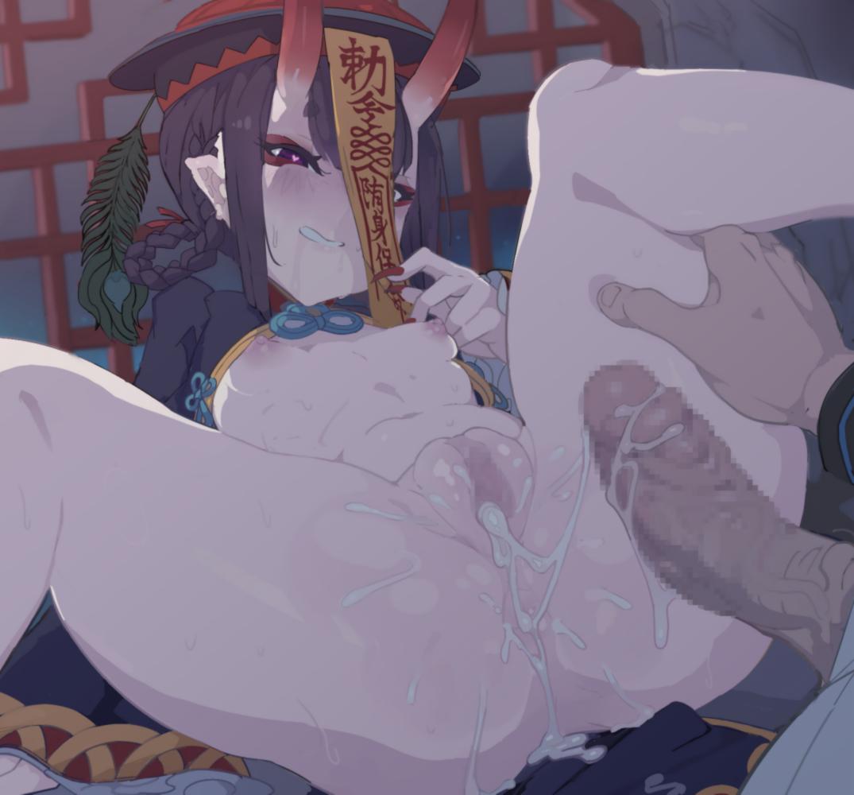 【FGO】キョンシー酒呑童子のくぱぁ中出し溢れ精液アナルフィスト二次エロ画像2【Fate/GrandOrder】