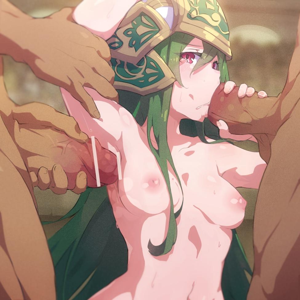【パズドラ】アテナの輪姦フェラ腋コキ射精二次エロ画像1【パズル&ドラゴンズ】