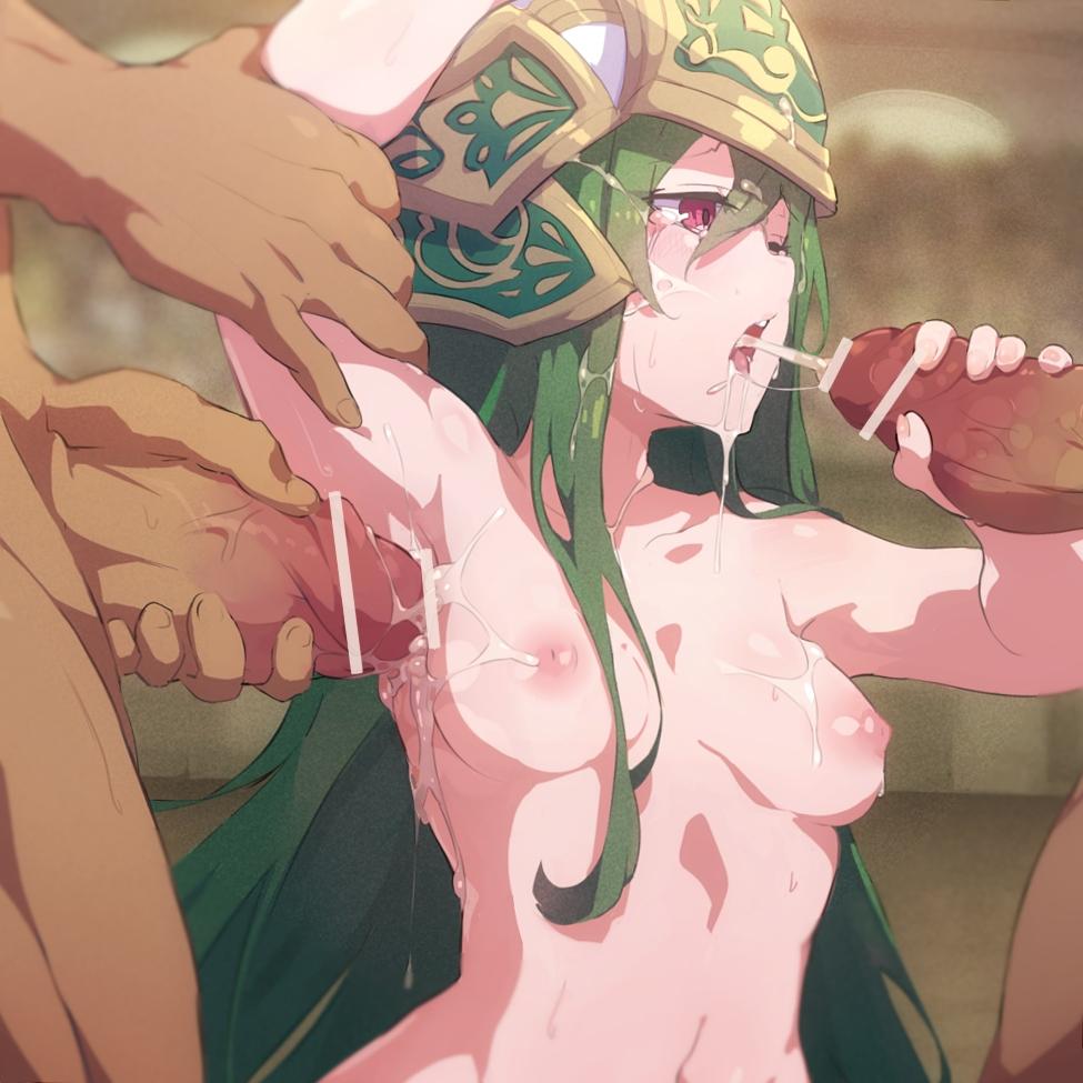 【パズドラ】アテナの輪姦フェラ腋コキ射精二次エロ画像2【パズル&ドラゴンズ】