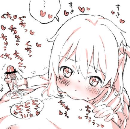 【WIXOSS】小湊るう子の乳首舐め手コキ射精二次エロ画像【ウィクロス】