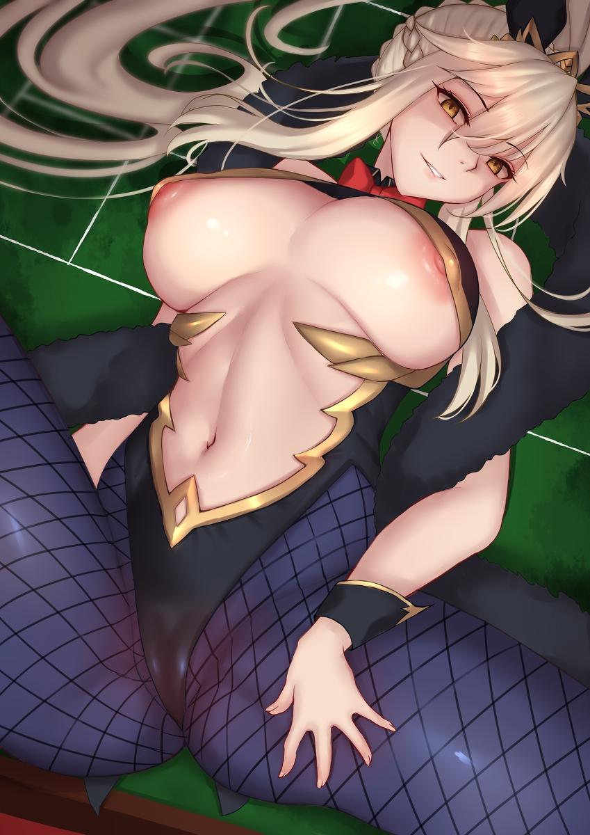 【FGO】ランサーアルトリアの脱衣おっぱいバニー二次エロ画像1【Fate/GrandOrder】