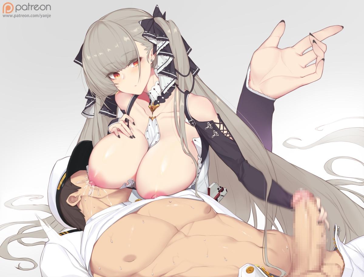 【アズレン】フォーミダブルの授乳手コキ二次エロ画像【アズールレーン】