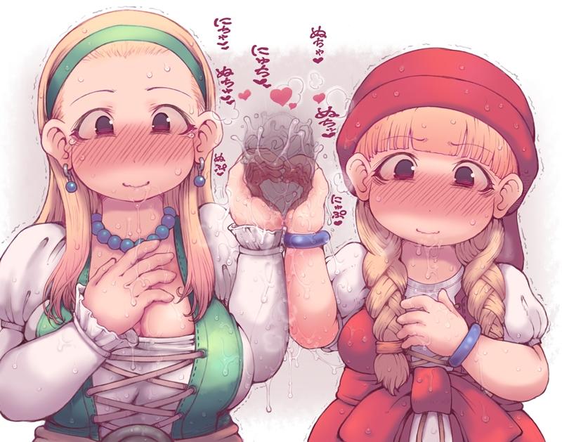【DQ11】ベロニカ&セーニャのW手コキ二次エロ画像【ドラゴンクエスト11】