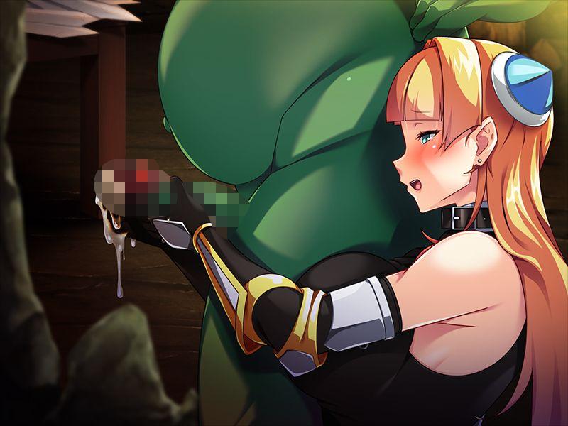 【同人CG】金髪女騎士の背面手コキ二次エロ画像【オークだって恋がしたい!~女騎士さんと巣作りダンジョン~】