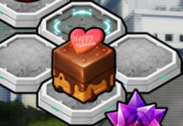 バレンタインチョコが入った箱