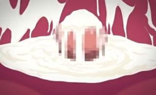 子宮タンクが白濁液でドロドロ!巨根で貫かれてザーメンみるくが池溜り!