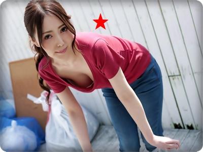 【無修正・古瀬玲】【中出し】朝ゴミ出しはノーブラで男を誘う欲求不満な美人妻