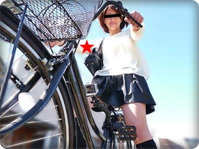【無修正素人】ノーパン自転車撮影に興奮した美人お姉さんとホテルで生ハメ♪