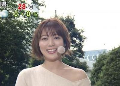 【最新画像】お天気キャスター・阿部華也子、朝からとんでもないエ□衣装で乳強調!