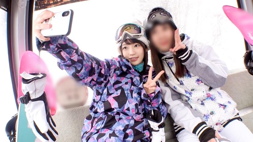 美白で美肌!冬のゲレンデでテンション上がって旅館に戻ってハメ撮りしちゃった女の子が可愛すぎる!