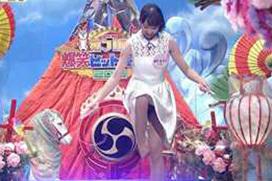 【放送事故】正月番組で美少女が豪快パンチラ…ノーパンに見えるんだが…