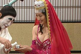 橋本マナミがおっぱい見せながら志村と晩酌