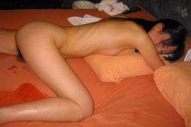 全裸のままで…セックス事後ヌード画像