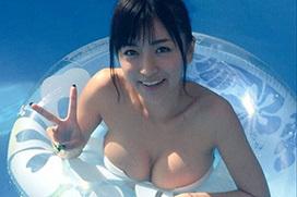 元仮面女子の☆HOSHINOのおっぱいグラビア
