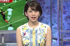 W杯史上最低キャスター・佐藤美希が懺悔の下着おっぱい姿晒す