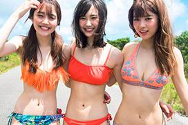non-noが誇る最高のモグラ女子3人が水着でグラビアコラボ!