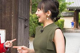 吉岡里帆が京都嵐山で着衣巨乳散歩