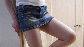 デニムのミニスカ穿いたナウいギャルの画像 part9