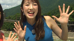 ZIP團遥香(24)が世界遺産で巨乳アピール