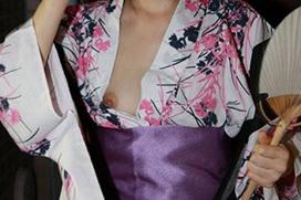 やっぱり夏といえば、浴衣だね、胸チラ・乳首チラだね