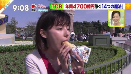 上村彩子アナ パックリ咥え顔&ピチピチニット透け乳セクシー画像