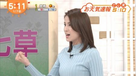 永島優美アナ ユミパンの唾糸引き&ニット巨乳セクシー画像