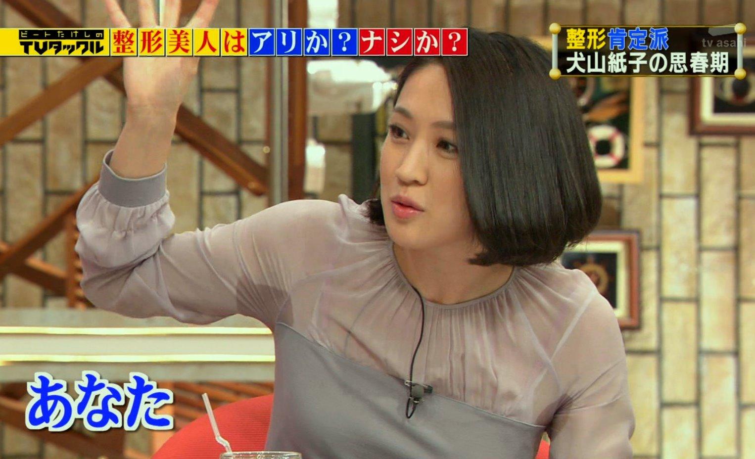 犬山紙子のびちょ濡れ腋 (4)